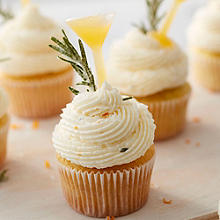 Orange and Rosemary Gimlet Cupcakes