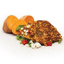 sweet potato and feta fritters