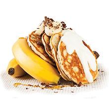 banana and chocolate chip pancakes