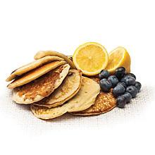 skinny lemon and blueberry pancakes