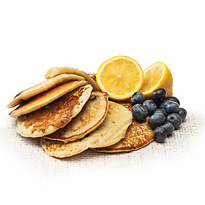 skinny lemon and blueberry pancakes