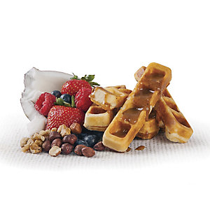 nutty protein waffles
