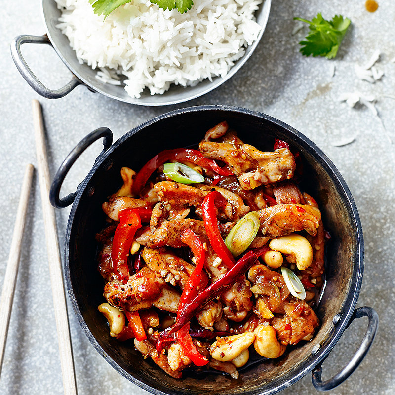 school of wok's stir-fried sichuan chicken