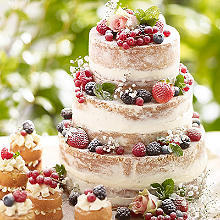 Tiered Summer Berries Cake