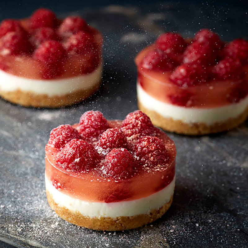 Mini PopaBall Rose Gold Shimmer Raspberry Cheesecakes