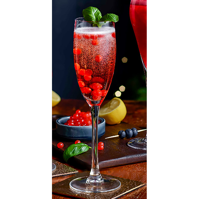 Popping Prosecco Raspberry Bellini with PopaBalls