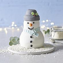 Iced 3D Snowman Cake