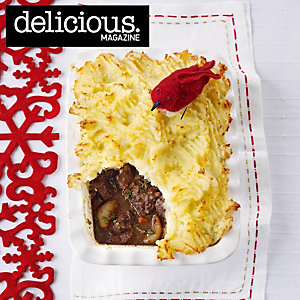 Barolo-Braised Beef and Shallot Pie with Parsnip and Potato Mash