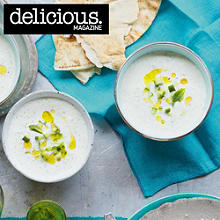 Chilled cucumber and yogurt soup