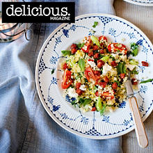Feta and mint tabbouleh with crispy chorizo