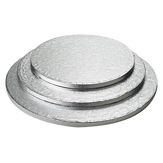 30cm Silver Cake Board Drum - Round alt image 2