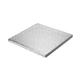 25cm Silver Cake Board Drum - Square alt image 2