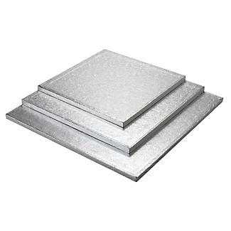 30cm Silver Cake Board Drum - Square alt image 2
