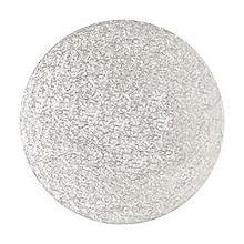 Runde Kuchenplatte, 35 cm Ø silber