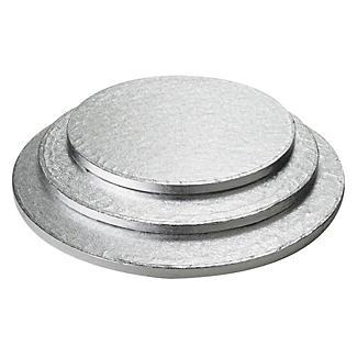 35cm Silver Cake Board Drum - Round alt image 2