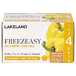 100 Gusseted Freezeasy Food Freezer Bags 20 x 30cm