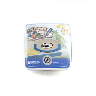 LocknLock Cake Carrier Caddy & Clear Lid - Square Holds 28cm Cakes alt image 3