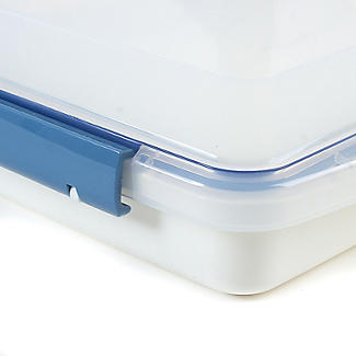 LocknLock Cake Carrier Caddy & Clear Lid - Square Holds 28cm Cakes alt image 6