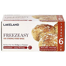 100 Gusseted Freezeasy Food Freezer Bags 28 x 41cm