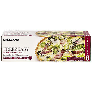50 Gusseted Freezeasy Food Freezer Bags 41 x 51cm