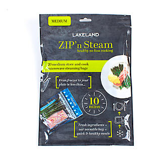 20 Lakeland Zip n Steam Cooking Bags 25 x 25cm alt image 3