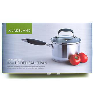 Lakeland Stainless Steel Lidded Saucepan 1.9L - 16cm alt image 6