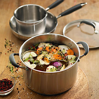 Lakeland Stainless Steel Lidded Stock Pot Pan 8.9L - 24cm alt image 2