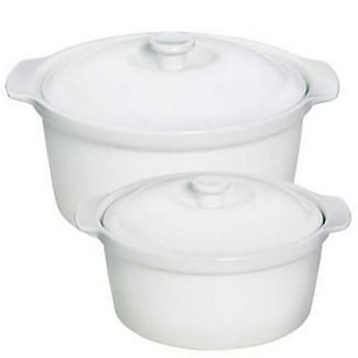Dura White Porcelain Serveware - Small Casserole Dish