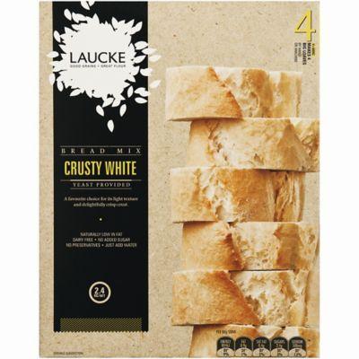 Laucke Crusty White Bread Mix 4x 600g Lakeland