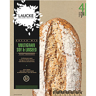 Laucke Multigrain Soy and Linseed Bread Mix 4 x 600g