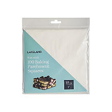 100 Baking Parchment Liner Paper Squares 18cm