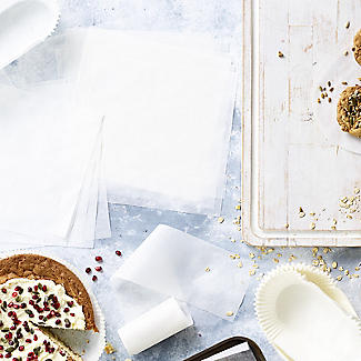 100 Baking Parchment Liner Paper Squares 20cm alt image 2