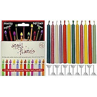 Angel Flames Colour Changing Birthday Cake Candles x 12