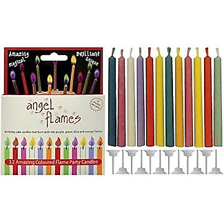 Angel Flames Colour Changing Birthday Cake Candles x 12 alt image 1