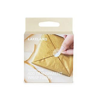 400 Wrap Fixers Clear Round Self Adhesive Sticker Seals