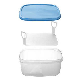 Cake Storage Container with Cake Lifter and Lid - Holds 23cm Cakes alt image 3