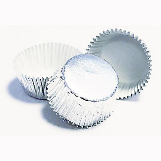 30 PME Greaseproof Cupcake Cases - Metallic Silver alt image 4