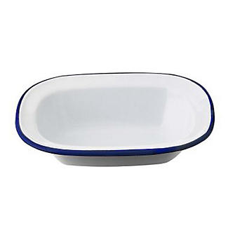 Traditional Enamel 16cm Oblong Pie Dish
