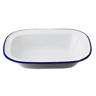 Traditional Enamel 24cm Oblong Pie Dish