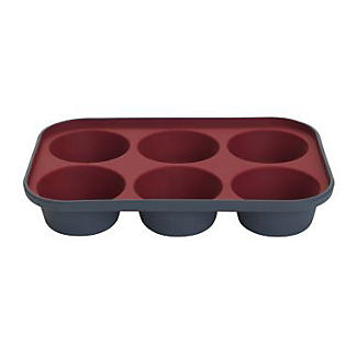 Lakeland Silicone 6 Hole Muffin Pan