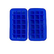 2 Eiswürfelformen aus Silikon für jeweils 18 Würfel
