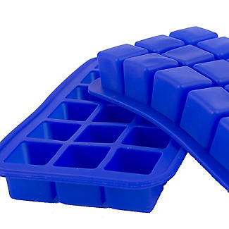 2 Silicone 18 Hole Ice Cube Freezer Trays  alt image 3