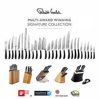 Robert Welch Signature Knife Block Sharpener and 6 Knives alt image 7