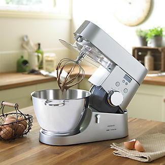 Kenwood Chef Titanium 4.6L Stand Mixer With Timer - Silver KMC030