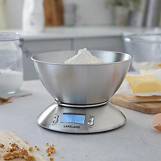 Lakeland Digitale Küchenwaage aus Edelstahl mit LCD Display alt image 2