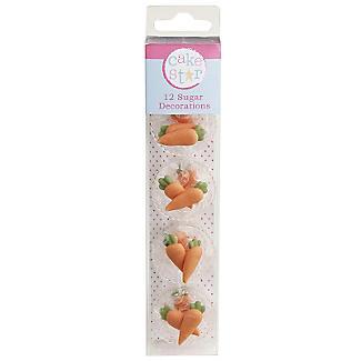 12 Sugar Carrot Decorations alt image 2