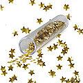 Cake Decorating Sprinkles - 1.4g Edible Gold Stars