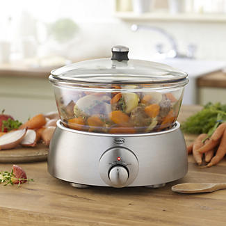Swan Glass Slow Cooker