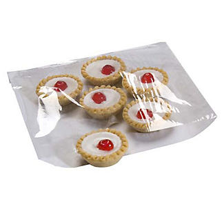 100 Cellophane Front Square Cake and Food Display Bags 21.5cm