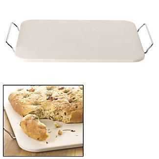 Lakeland Rectangular Flat Baking Pizza Stone Absorbs Moisture from Dough